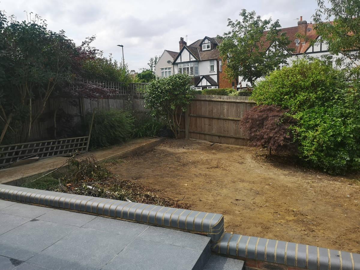 Back Garden – fence dividing the plot